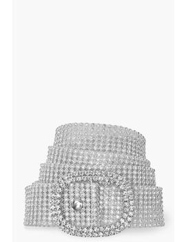 diamante-buckle-belt by boohoo