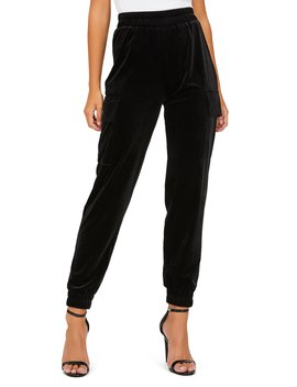 Pull On Velour Cargo Pants by Suzy Shier