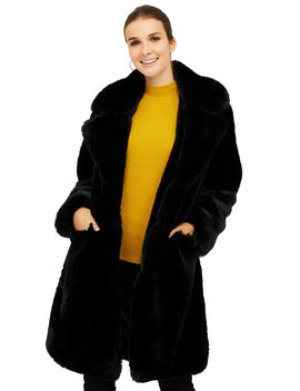 Long Faux Fur Coat by Suzy Shier