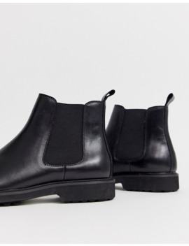 office-chunky-chelsea-boots-in-black-leather by asos
