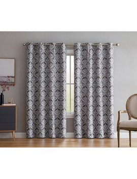 buffington-print-damask-max-blackout-thermal-grommet-curtain-panels by house-of-hampton