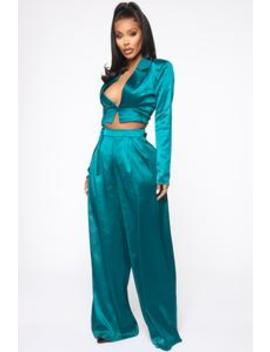 im-in-my-bag-satin-suit-set---teal by fashion-nova