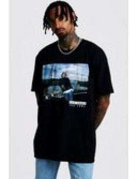 """oversized-t-shirt-""""ice-cube"""" by boohooman"""