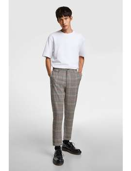 cropped-carrot-fit-check-trousers by zara