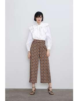 geometric-print-pants-view-allpants-woman by zara