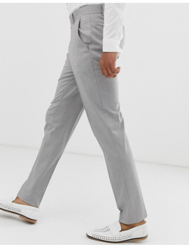 asos-design-skinny-smart-pants-in-gray-pv-oxford by asos-design