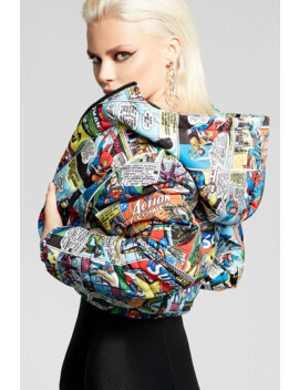 superman-print-puffer-jacket by forever-21