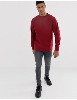 pull&bear-basic-sweatshirt-in-burgundy by pull&bear