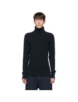 navy-rib-knit-turtleneck by bottega-veneta