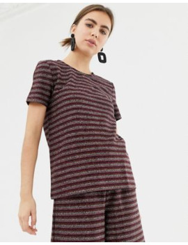 pieces-kasey-metallic-stripe-t-shirt by pieces