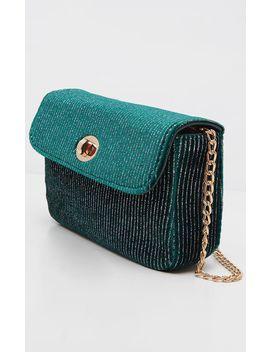 green-tweed-cross-body-bag by prettylittlething