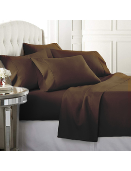 luxury-home-super-soft-1600-series-double-brushed-6-pcs-bed-sheets-set-(king,-chocolate) by luxury-home