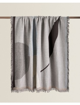 geometric-jacquard-blanket--blankets---living-room by zara-home