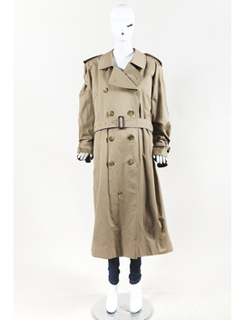Vintage S Cotton Double Breasted Trench Coat by Burberry
