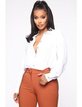 im-the-boss-button-down-shirt---off-white by fashion-nova