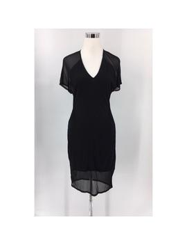 helmut-lang-womens-black-silk-blend-sheer-dress by helmut-lang