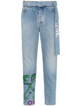 jeans-mit-graffiti-logo by off-white