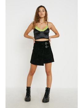 uo-audrey-suede-wrap-mini-skirt by urban-outfitters
