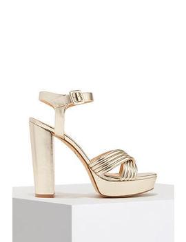 Platform Metallic Heel by Boston Proper