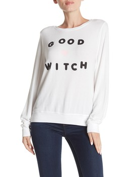 good-witch-long-sleeve-sweatshirt by wildfox