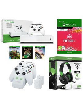 xbox-one-s-all-digital-edition,-minecraft,-forza-horizon-3,-sea-of-thieves,-fifa-20,-xbox-live-gold,-twin-docking-station-&-recon-70x-gaming-headset-bundle by currys