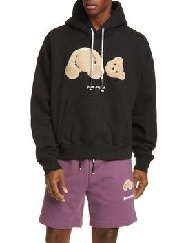bear-crop-hoodie by palm-angels