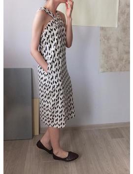 monochrome-confetti-print-strap-halterneck-dress by etsy