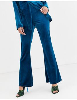 asos-design-jersey-kick-flare-suit-trouser-in-velvet by asos-design