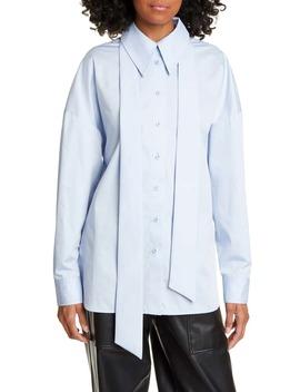zip-detail-easy-shirt by tibi