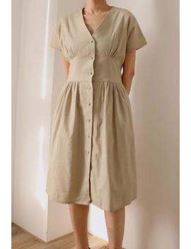 bella-dress--belted-retro-summer-linen-dress-(more-colours-available) by etsy