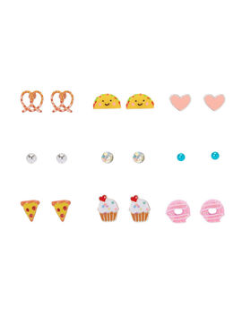 sweet-&-savory-stud-earrings---9-pack by claires