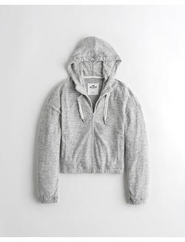 textured-full-zip-hoodie by hollister