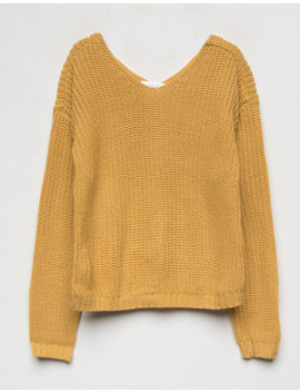 white-fawn-knot-yellow-girls-sweater by white-fawn