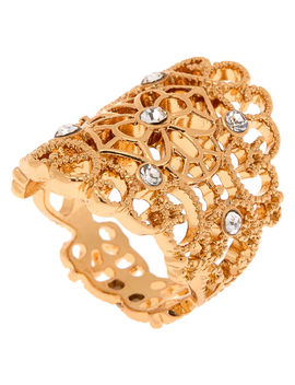 Gold Filigree Flower Ring by Claire's