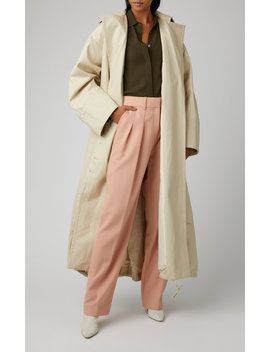 le-manteau-arles-cotton-gabardine-trench-coat by jacquemus