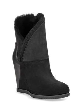 ugg-classic-mondri-cuff-wedge-boot-in-black-suede by ugg
