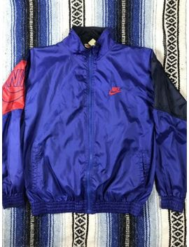 vtg-nike-windbreaker-rare-colorblock-spellout-size-large-90's-grey-tag-gray by nike