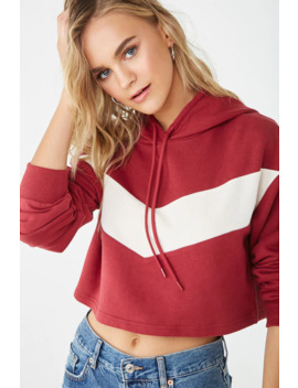 chevron-cropped-hoodie by forever-21