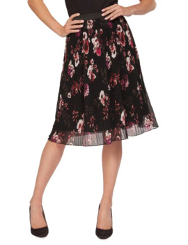 floral-print-pleated-skirt by dex