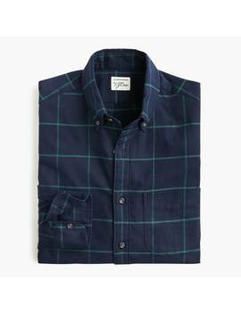 slim-brushed-twill-shirt-in-large-square-plaid by jcrew