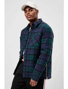 plaid-button-front-jacket by forever-21