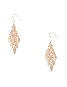 Rose Gold Sandblasted Chandelier Drop Earrings by Claire's