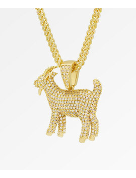 Notorious B.I.G. X King Ice The Goat Iced Gold Pendant Necklace by Zumiez