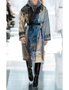 printed-sheer-organza-trench-coat by maison-margiela