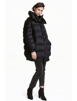 oversized-velvet-down-jacket by h&m