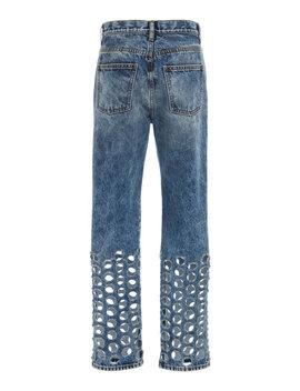 cutout-straight-leg-jeans by maison-margiela