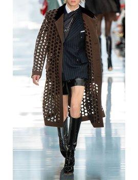 high-rise-vinyl-leather-shorts by maison-margiela