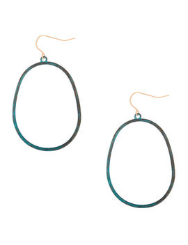 "2"" Patina Oval Drop Earrings by Claire's"