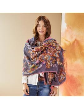 Mulberry Stitched Scarf by Sundance