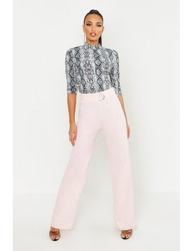 high-waisted-d-ring-belted-wide-leg-pants by boohoo